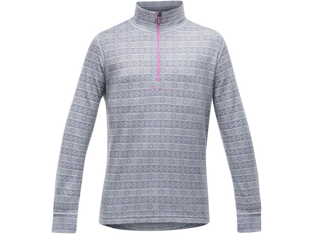 Devold Alnes Half Zip Neck T-Shirt Junior Grey